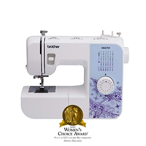 Brother Sewing Machine, XM2701, Lightweight Sewing Machine with 27 Stitches, 1-Step Auto-Size...