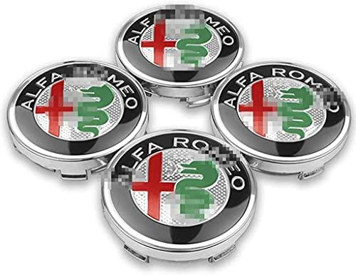4 Piezas Coche Tapas Rueda Centro Tapacubos para Alfa Romeo Giulietta Spider Giulia Mito 147 156, Prueba Polvo Repuesto Accesorios