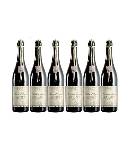 Marchese di Borgosole Salice Salentino Riserva Rotwein veganer Wein trocken DOC Italien (6 Flaschen)