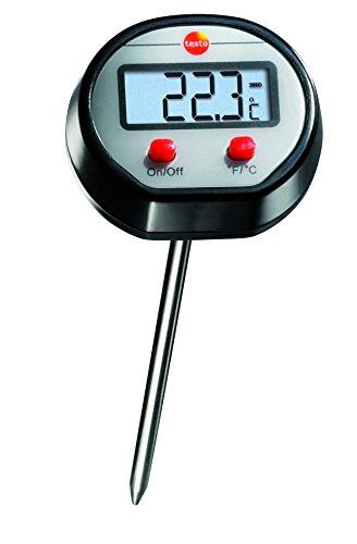 Testo SE & Co.KGaA Testo 0560 1110 Mini Einstech-Thermometer bis 150 °C, Länge 133 mm, mit Schutzhülse für Fühlerrohr, gut ablesbares Display, inklusive Batterien