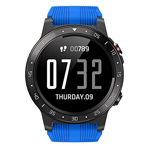 Smartwatch, Reloj Inteligente Mujer y Hombre Impermeable IP67 Pulsera de Actividad Inteligente con Monitor de Sueño Contador de Caloría Pulsómetros Podómetro GPS Blue