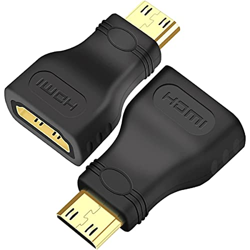 SAIBANGZI HDMI Zu Mini HDMI Adapter HDMI Buchse (weiblich) Auf Mini HDMI Stecker (männlich) Adapter (19pol) HDMI-Standard 1.4 Full HD Vergoldete Kontakte Für Laptop, PC, Monitor, Projektor, HDTV
