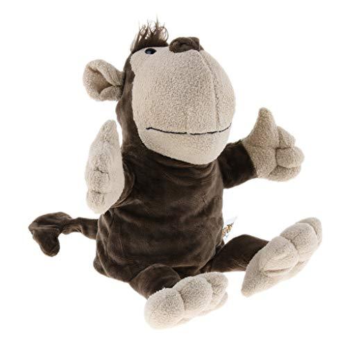 B Blesiya Marionetas de Mano Títeres de Animales Zoológicos Suave Juego de Pretender para Niños Niñas - Mono