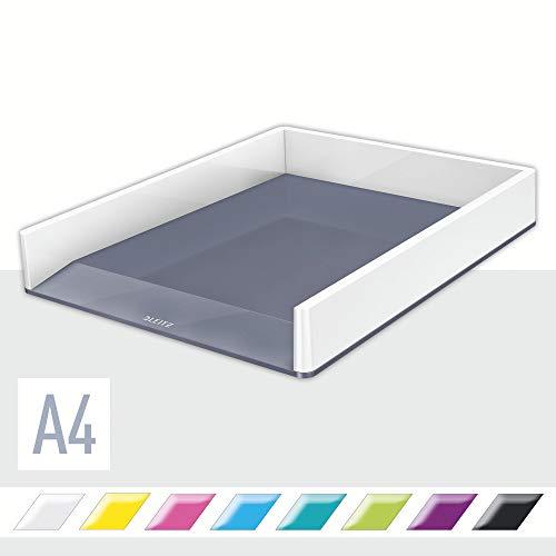 LEITZ WOW - Vaschetta portacorrispondenza Dual Color - Bianco metellizzato - 53611001
