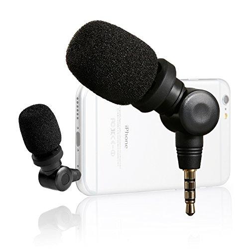 Saramonic iMic Flexible Mini Kondensator Mikrofon Richtmikrofon Geräte mit (3,5mm) Ausgang für iPhone 7 5 5s 6s 6 Plus iPod Touch