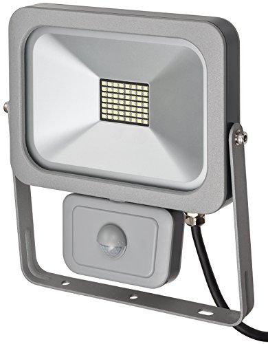 Brennenstuhl Slim LED Strahler außen mit Bewegungsmelder (zur Wandmontage, IP54, LED-Fluter 30W) silber