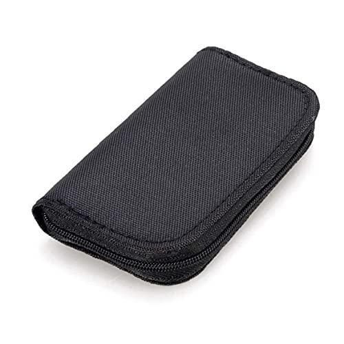 22 Slots Memory Card Case Waterdichte Sd kaarthouder draagtas voor Micro SDHC SDXC Tf Sim CF-kaart-zwart