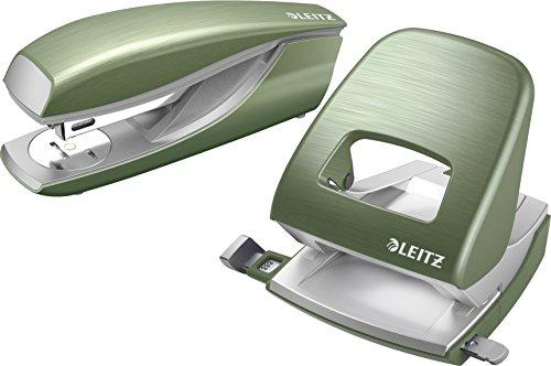 Leitz 50060004 Locher und Leitz 55620069 Heftgerät Nexxt Style (seladon-grün | Heftgerät + Locher)