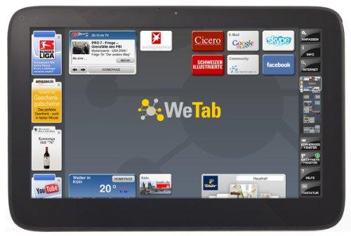 WeTab - Tablet (3G, 29,5 cm/11,6', 32 GB, UMTS, Bluetooth 2.1 + EDR, Wi-Fi, GPS) [Importado de Alemania]
