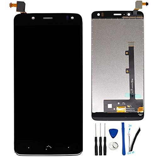 """SOMEFUN Pantalla LCD Repuestos Compatible con BQ Aquaris V/BQ Aquaris U2 / U2 Lite 5.2"""" LCD Pantalla Táctil Digitalizador Asamblea de Vidrio (Negro)"""