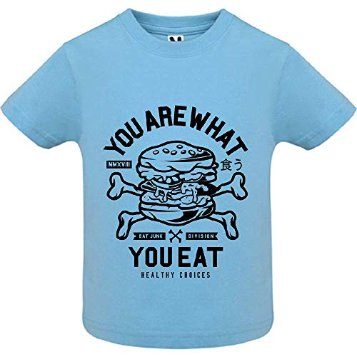 LookMyKase T-Shirt - You are What You Eat - Bébé Garçon - Bleu - 18mois