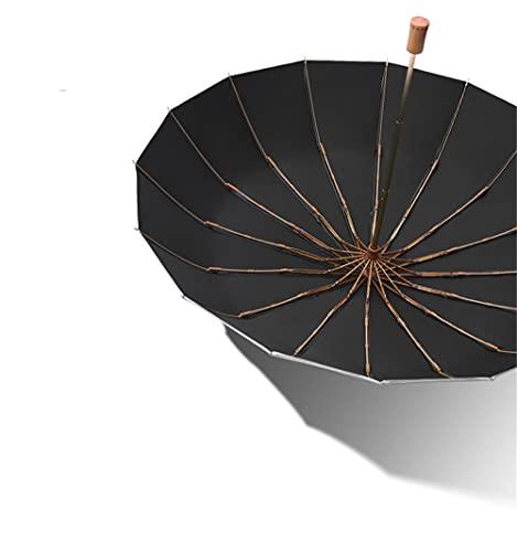SanSiXing Útil Conveniente y fácil de Usar Plata 16 Hueso 3 Pliegue Paraguas sombrilla Paraguas pequeño Fresco protección Sol Mujer Personaliza Dar un Regalo (Color : Black, Size : One Size)