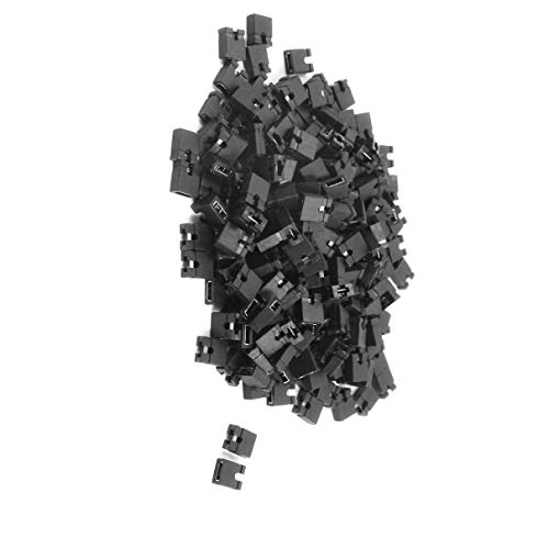 Aexit 200Pcs IDE DVD HDD PC PC Motherboard PCB Plugs Jumper (model: C5300VIIO-4574DH) Caps 2.54mm Negro