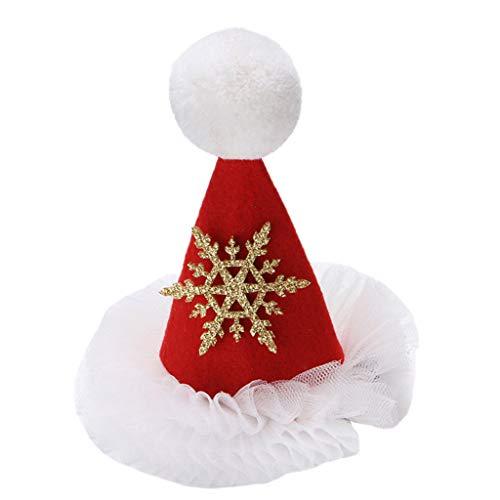 JIACUO niños bebé Navidad Sombrero Horquilla niños niñas Fiesta de cumpleaños Vestido...