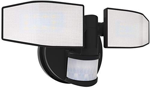 Northpoint Batterie LED Strahler mit Bewegungsmelder Fluter verstellbar Schwenkbar 400 Lumen Spritzwassergeschützt 5000K kaltweiß (Schwarz)