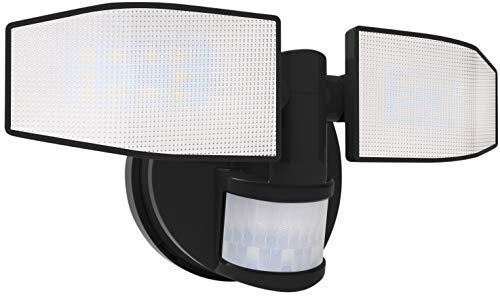 Northpoint Batterie LED Strahler mit Bewegungsmelder Fluter verstellbar Schwenkbar 400 Lumen Spritzwassergeschützt 5000K kaltweiß