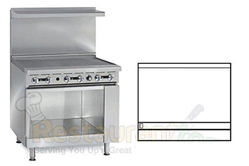 """Imperial Commercial Restaurant Range 36"""" Griddle 1 Cabinet Base Natural Gas Model Ir-G36-Xb"""