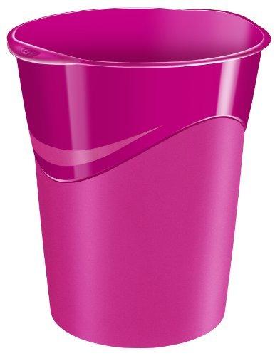 Preisvergleich Produktbild CEP Papierkorb GLOSS,  14 Liter,  rosa,  Menge: 2 Stück (Neuware)