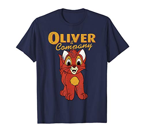 Disney Oliver And Company Oliver Cute Vintage Portrait T-Shirt