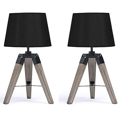 abat-jour tissu blanc lampe de chevet Lampe de chevet 2er Set de table lampes touch