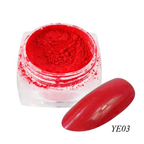 HFDJTAFS 1 boîte de néon pigments en Poudre Ongles Fluorescent dégradé Paillettes été Brillant Tissu dégradé