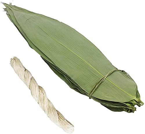 Hojas secas frescas grandes hojas de bambú hogar grandes albóndigas Dragon Boat Festival Dumplings?Hojas de bambú Zongzi Zongye Snacks comida china200pcs