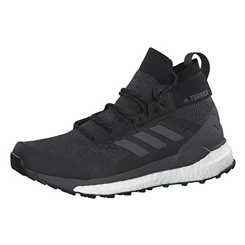 adidas Mens Terrex Free Hiker Walking Shoe, Core Black/Grey/Active Orange, 46 EU