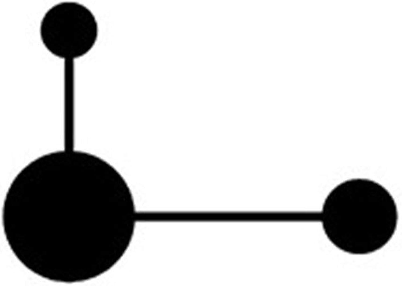 GONGFF Moderne Wandleuchten Nordic schwarz Molecular Combination LED Wandleuchten Dekorative Nachttischlampe Schlafzimmer Arbeitszimmer Wandleuchte Leuchten, 2 Kpfe