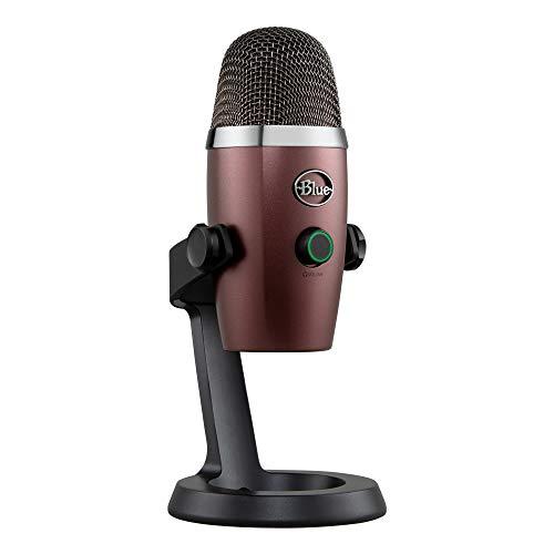 Blue Microphones Yeti Nano Micrófono USB de Condensador Profesional con múltiples Patrones de captación y monitoreo, sin latencia, para grabación y transmisión en PC y Mac, Color Rojo