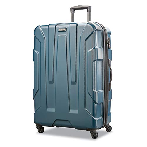 Samsonite Centric Hardside Expandable Luggage with Spinner Wheels, Teal, Checked-Large 28-Inch