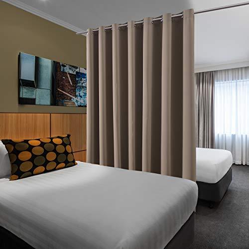 bluCOASTLINE Mehrzweck-Raumteiler-Vorhang Modern 10ft wide x 9ft tall hautfarben