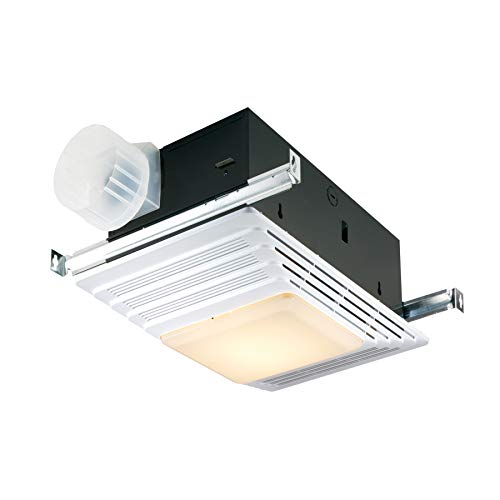 Broan-NuTone 765H80LB Bathroom Exhaust Heater and Light, 80 CFM, 2.0 Sones Bath Fan, White