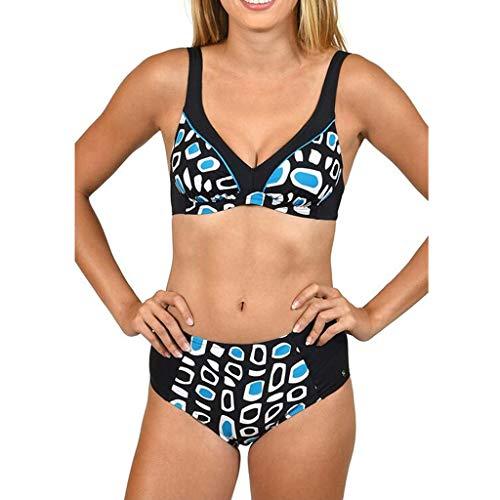 KPILP Maillot de Bain brésilien brésilien Maillot de Bain Elegant Amincissant Bikini Sexy Body Guide Tankini Transparent(Bleu,FR-40/CN-M)