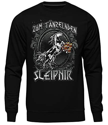 Uglyshirt89 Tänzelden Sleipnir Heren Pullover | Viking Walhalla Germanen Odin Bar Pub Kneipe Bier