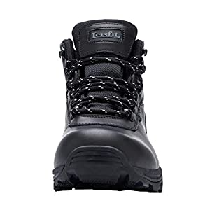 Leisfit Mens Summer Waterproof Outdoor Hiking Boots Mid Wide Backpacking Walking Boots Black 10