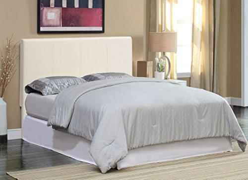 Furniture of America Malena Leatherette Headboard, Full-to-Queen, White