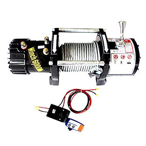 Cabestrante Electrico De 12V / 24V, Cabrestante De Remolque De 6000 Libras / 9500 Libras /...