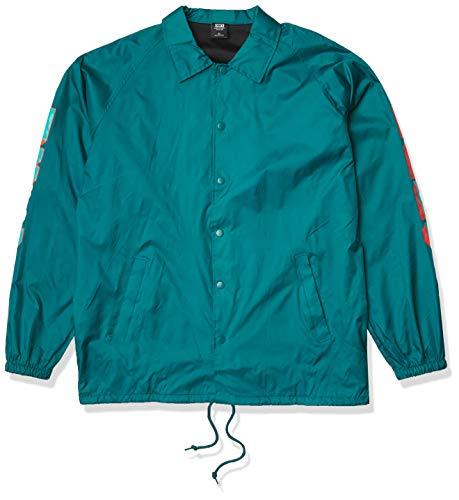 Obey Herren New World 2 Nylon Coaches Jacket Jacke, blaugrün, X-Groß