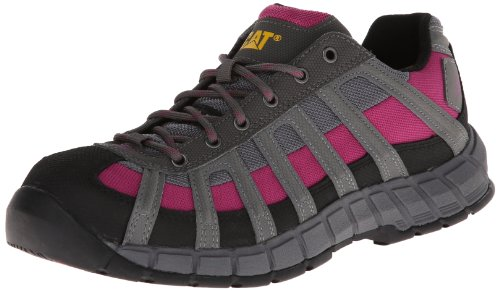 Caterpillar Women's Switch Steel Toe-W, Black/Baton Rouge, 5 M US