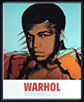 ポスター アンディ ウォーホル モハメド アリ 1977 額装品 ウッドハイグレードフレーム(ネイビー)