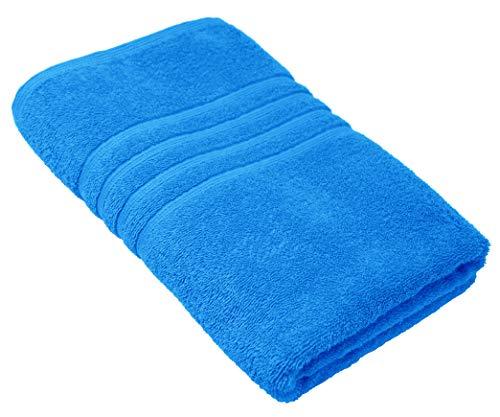 Lashuma toalla de baño de 100% algodón, toalla de ducha azul capri, London toalla 70x140 cm monocroma