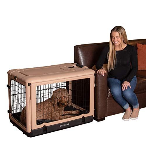 Pet Gear The Other Door Steel Crate - Tan/Black - 36'