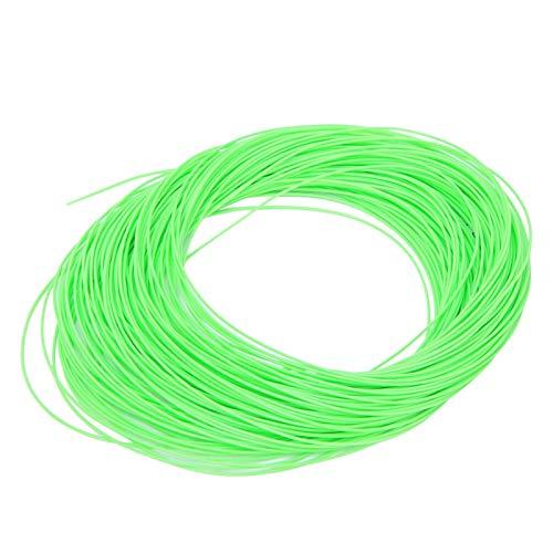 Sedal Verde/Naranja con Lazo Soldado, Ligero, portátil, con Revestimiento de PVC, Hilo de Pesca con Mosca de Nailon, para Amantes de la Pesca Aparejos de Pesca Pesca e