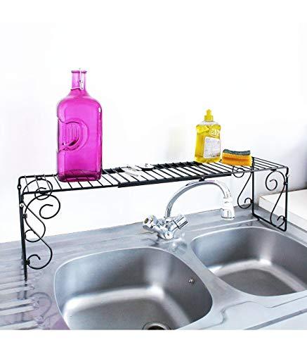 Etagère extensible pour lavabo ou évier