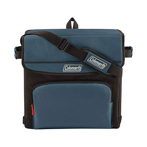 Coleman 54-Can Collapsible Cooler with 32-Hour Ice Retention | Soft-Sided Cooler Bag Folds Flat for Compact Storage, Slate