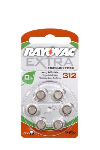 - Rayovac Extra 312 60 Piles pour appareils auditifs sans Mercure Marron