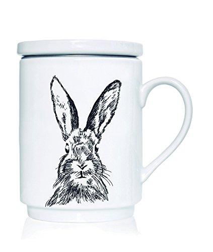 We Love Home - Taza de té de Porcelana con Tapa + Filtro me