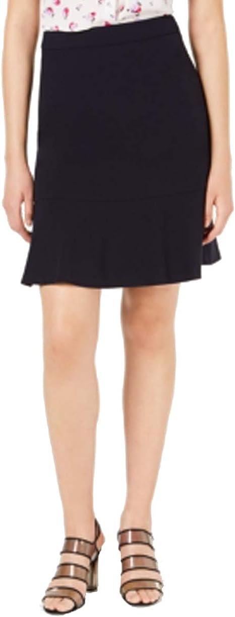 Bar III Bi-Stretch Ruffle Skirt