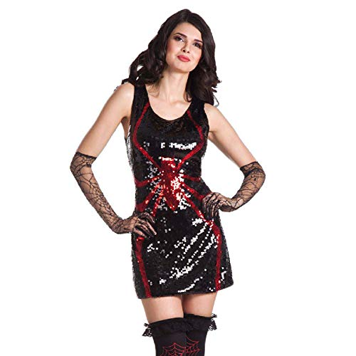 Boland Robe pailletée à paillettes M noir/rouge