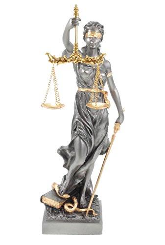 Unbekannt Figur der Justitia römische Göttin der Gerechtigkeit Gold/silberfarben Skulptur Anwalt Recht Gesetz